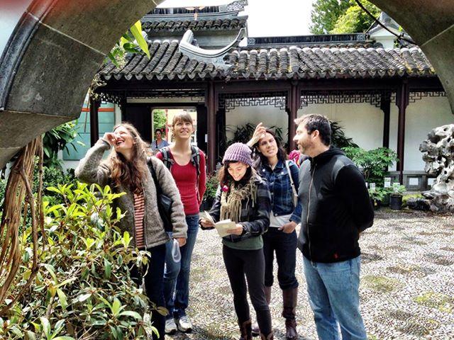 teaching at LanSu Chinese garden
