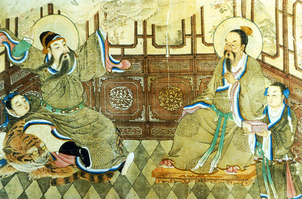 Painting of Sun Simiao 孫思邈.
