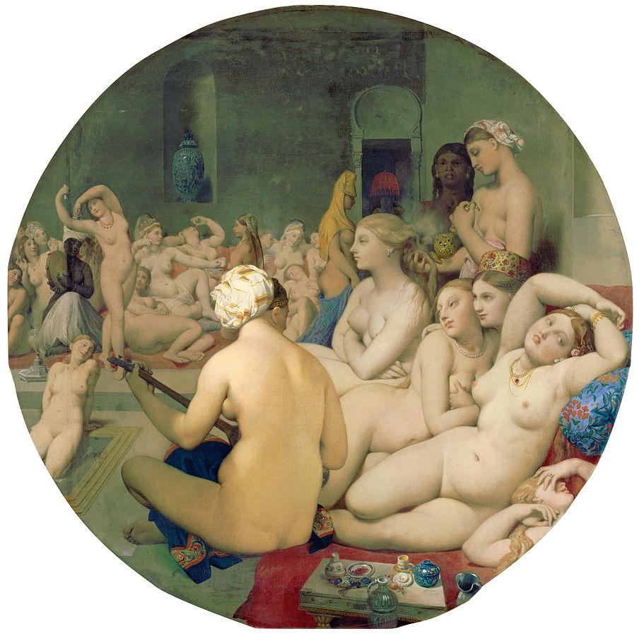 Jean Auguste Dominique Ingres,   The Turkish Bath   , 1862