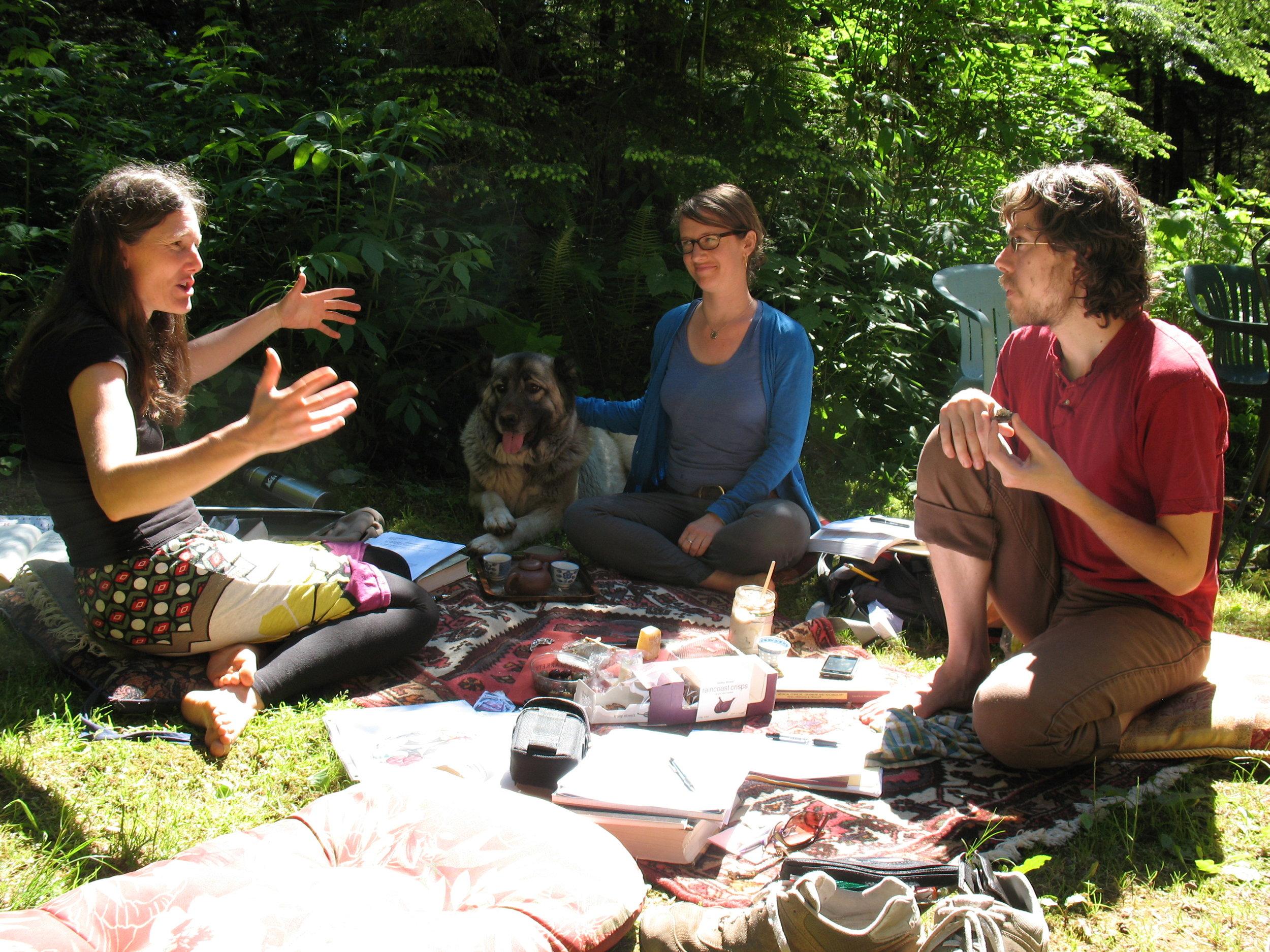 Image of Sabine Wilms teaching outdoors.