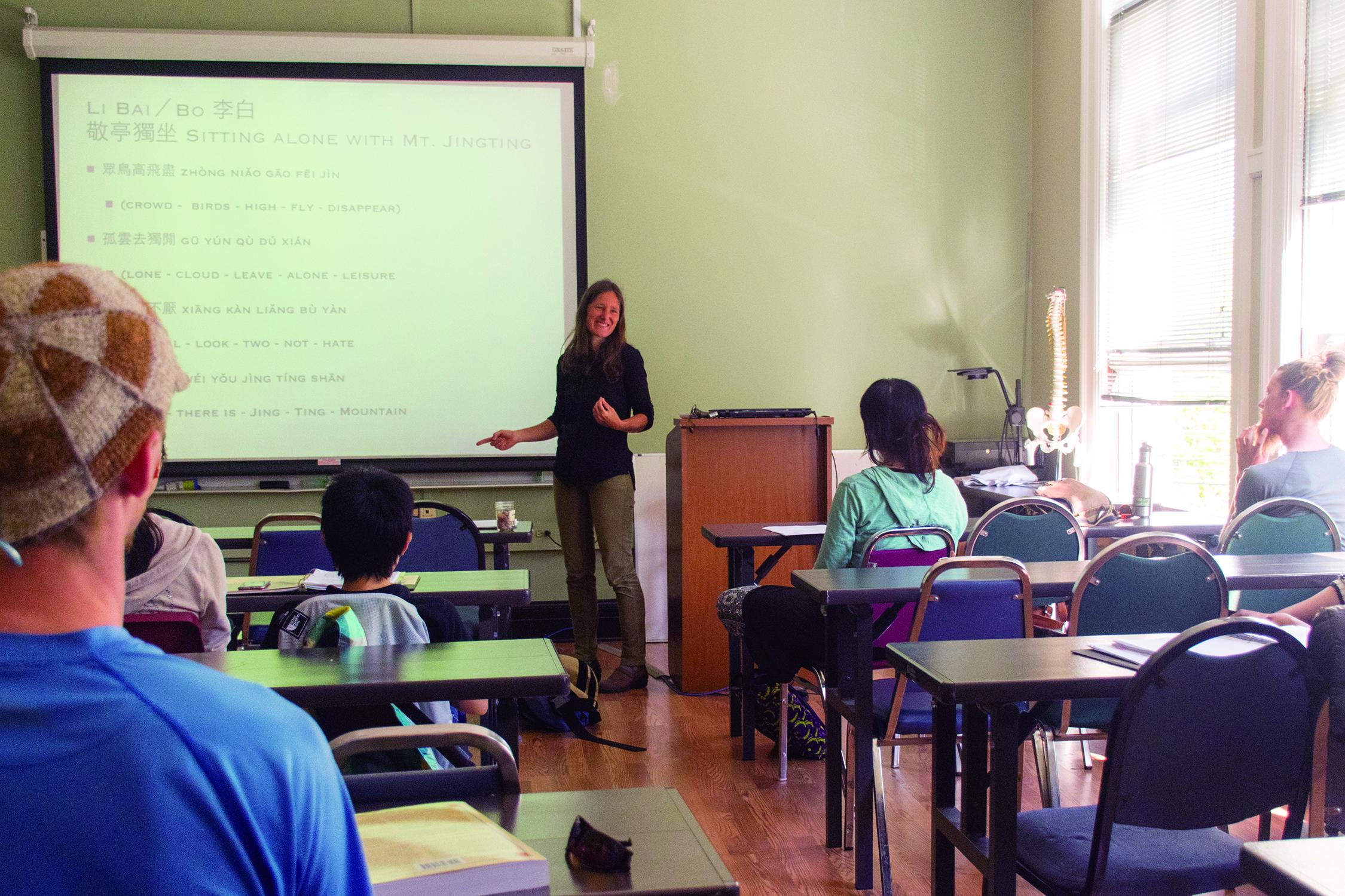 Sabine Wilms teaching.