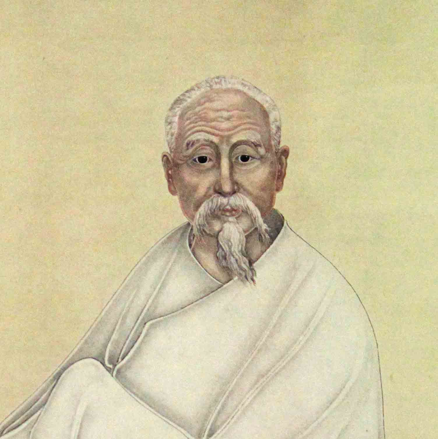 Painted portrait of Wang Fengyi.