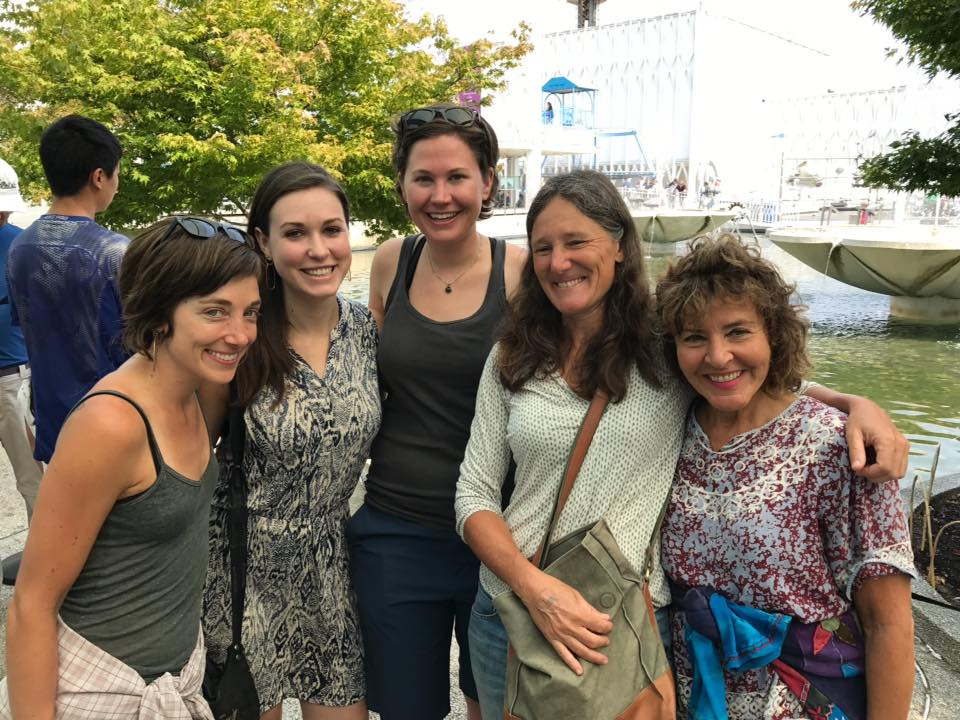 "My assistant Susie and I meeting ""student-friends"" in Seattle for the Terracotta Army exhibit."