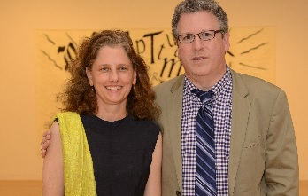Jennifer Gross and deCordova Board President Gerry Frank