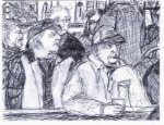 [Sketch by Bridget Galway]