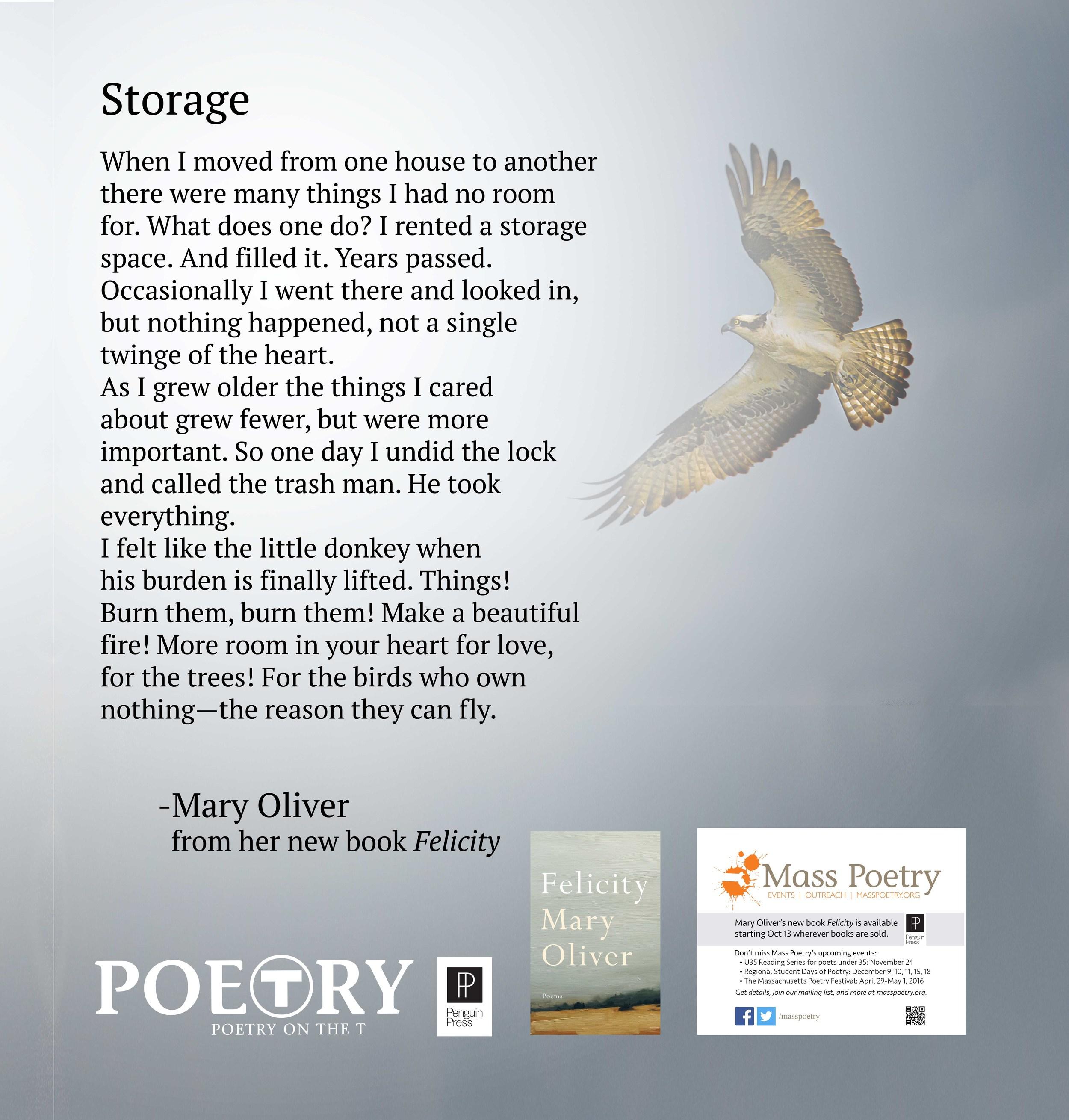 "Mary Oliver, ""Storage"""