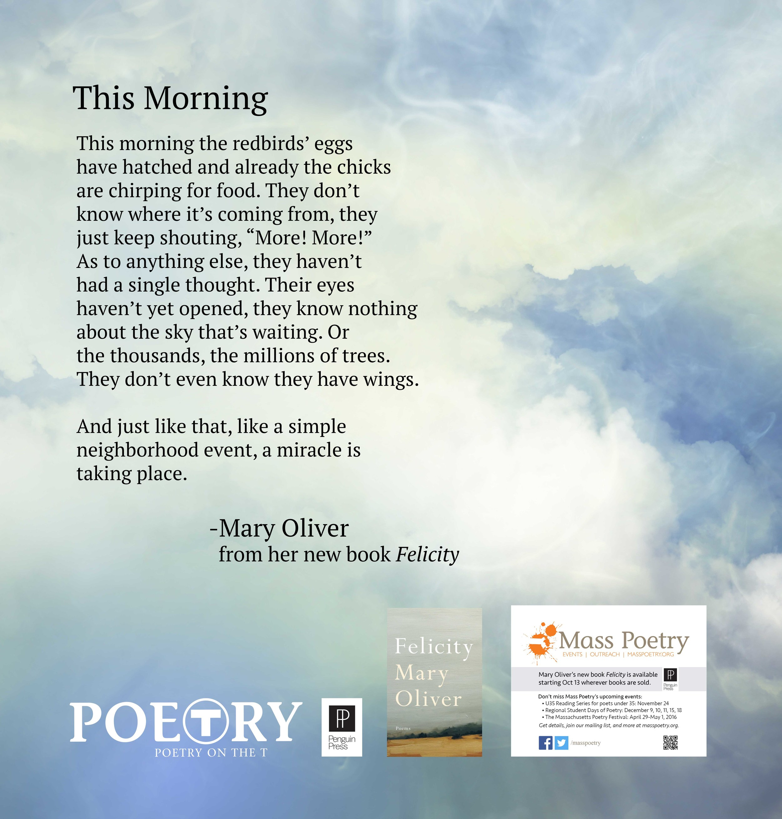 """Mary Oliver, """"This Morning"""""""