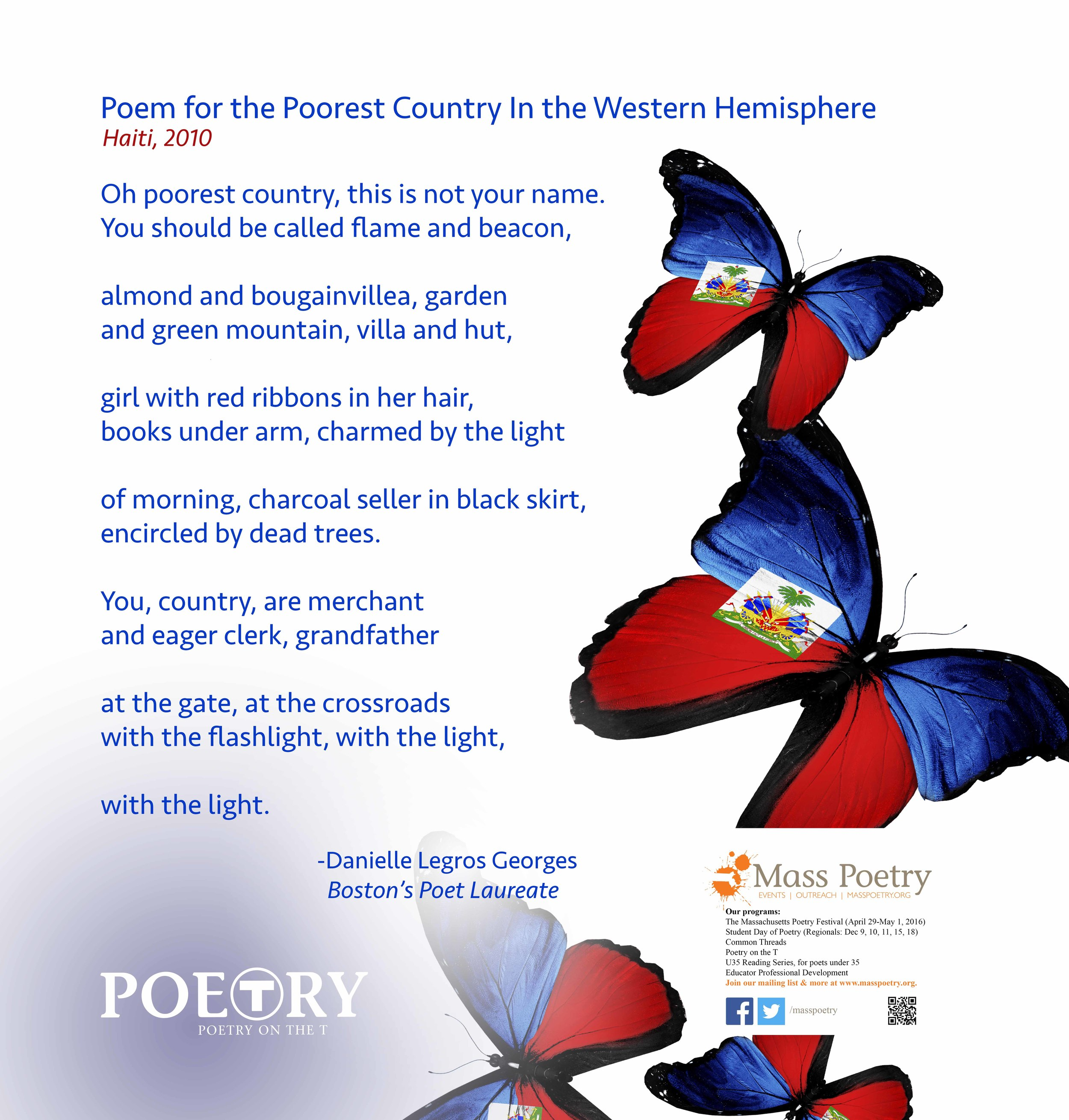 """Danielle Legros Georges, """"Poem for the Poorest Country in the Western Hemisphere"""""""
