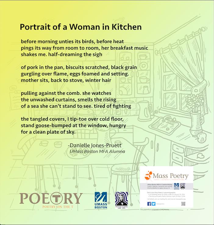 """Danielle Jones-Pruett, """"Portrait of a Woman in Kitchen"""""""