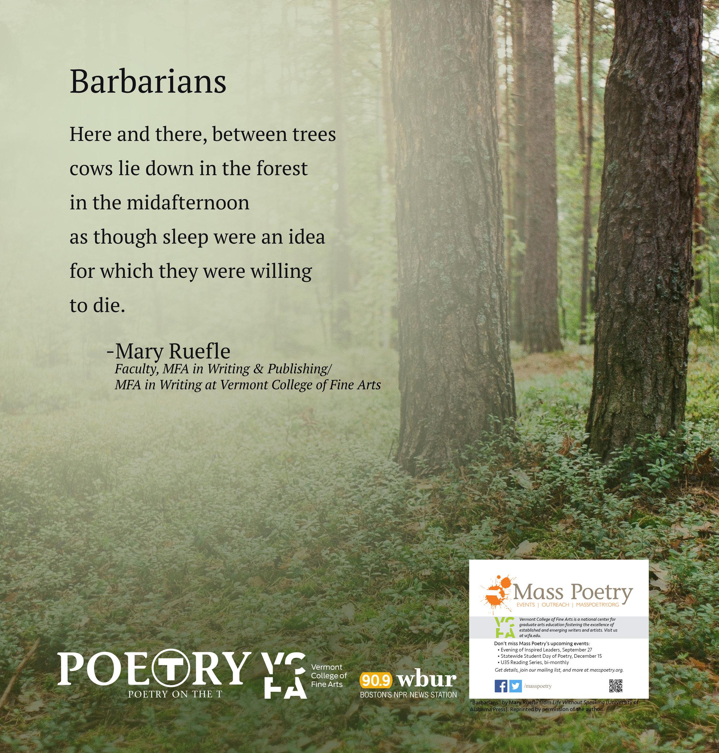 """Mary Ruefle, """"Barbarians"""""""