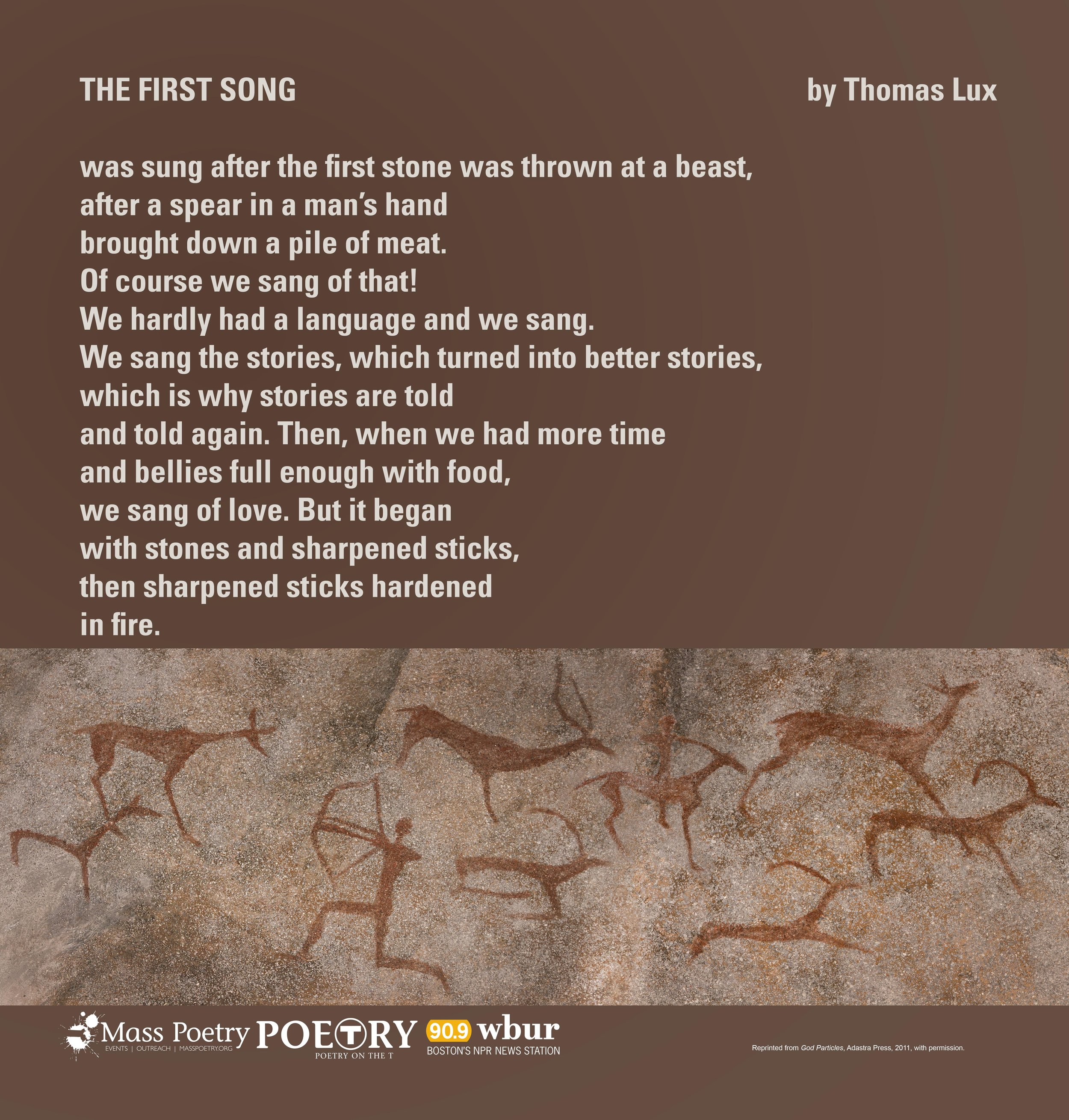"""Thomas Lux, """"The First Song"""""""