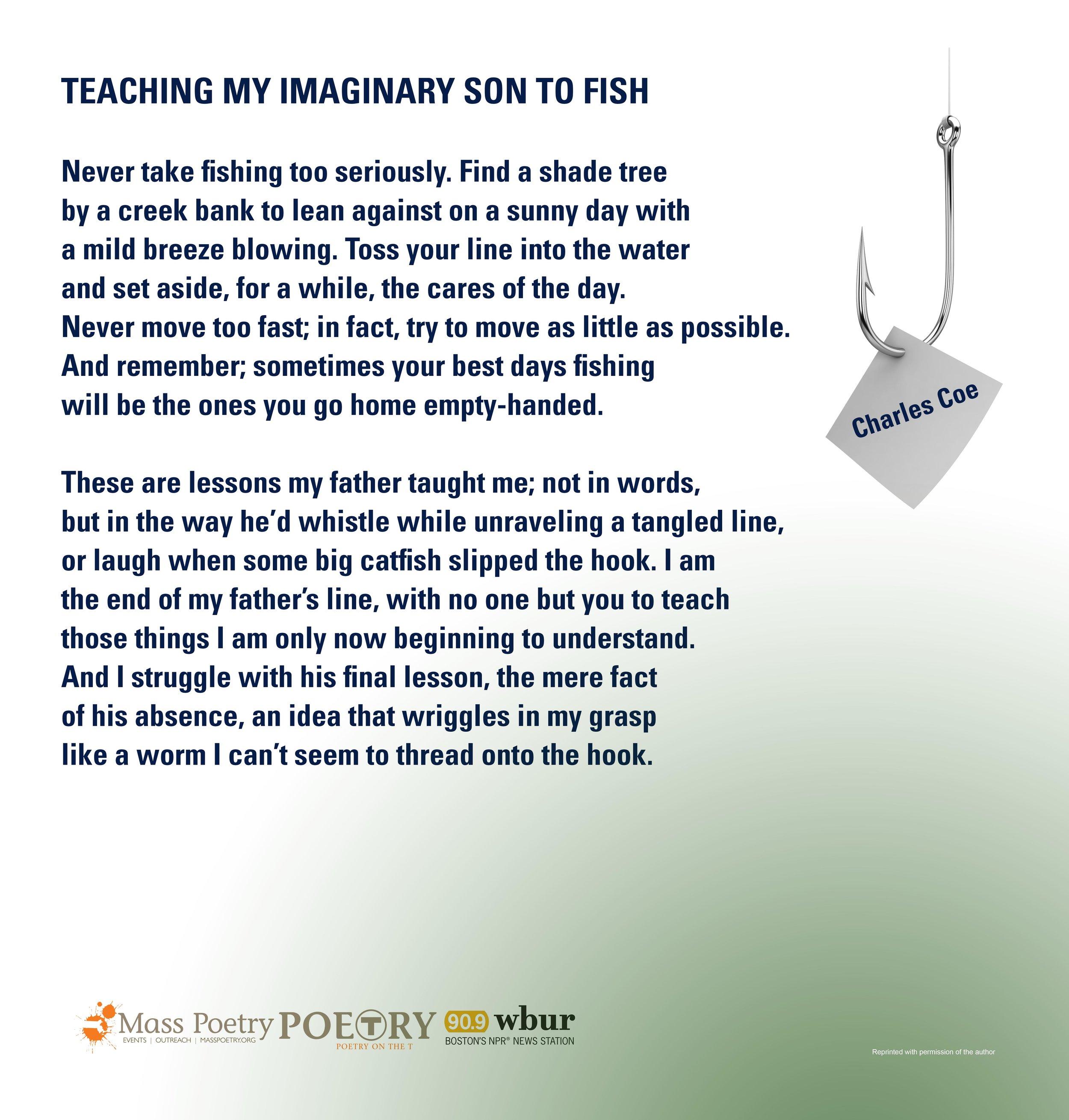 "Charles Coe, ""Teaching My Imaginary Son to Fish"""