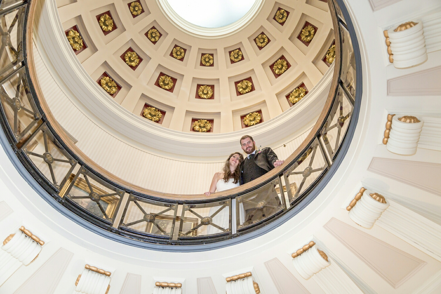the beautiful skylight in Surgeons' Hall makes for a dramatic photo opportunity.