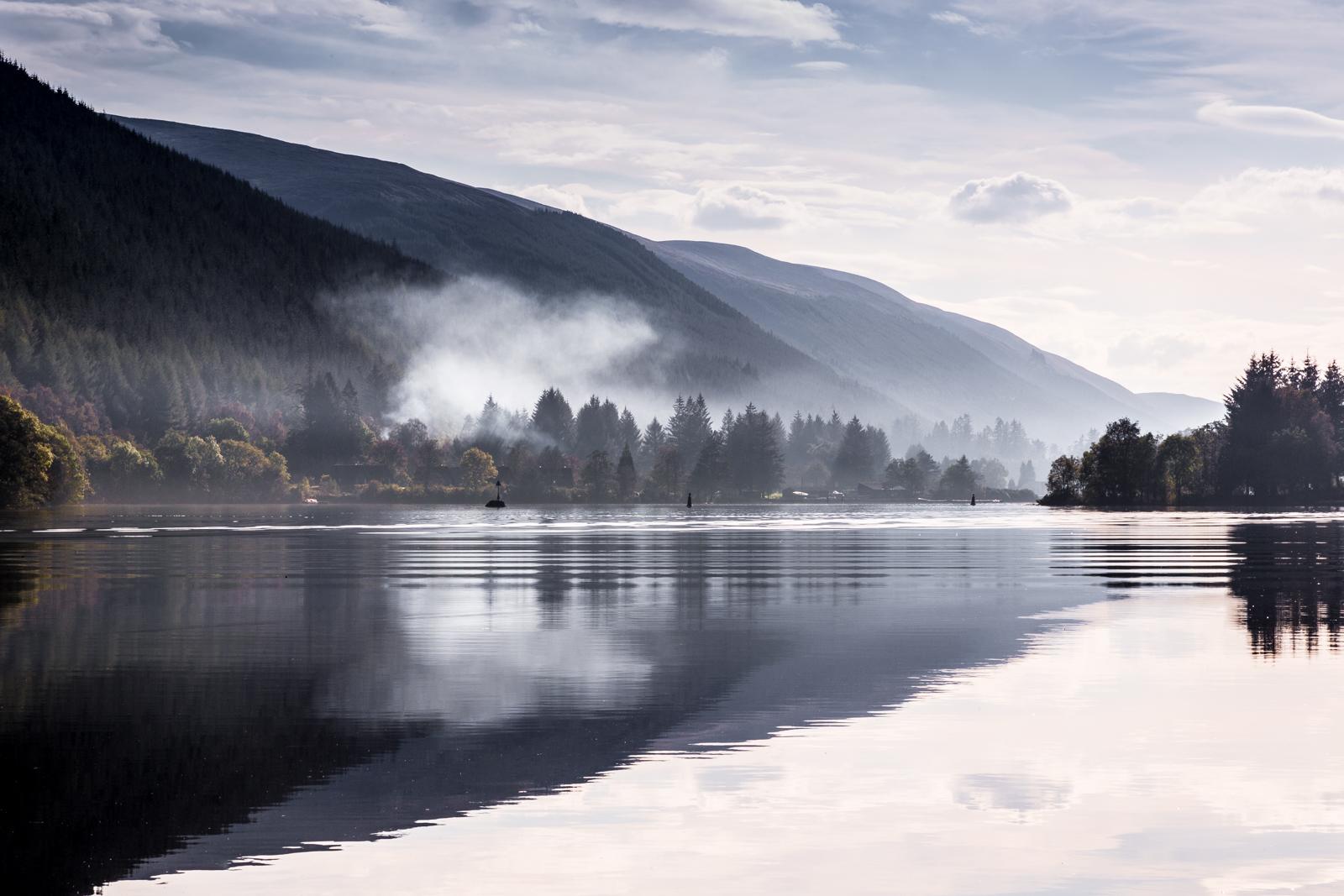 Smoke on Loch Oich