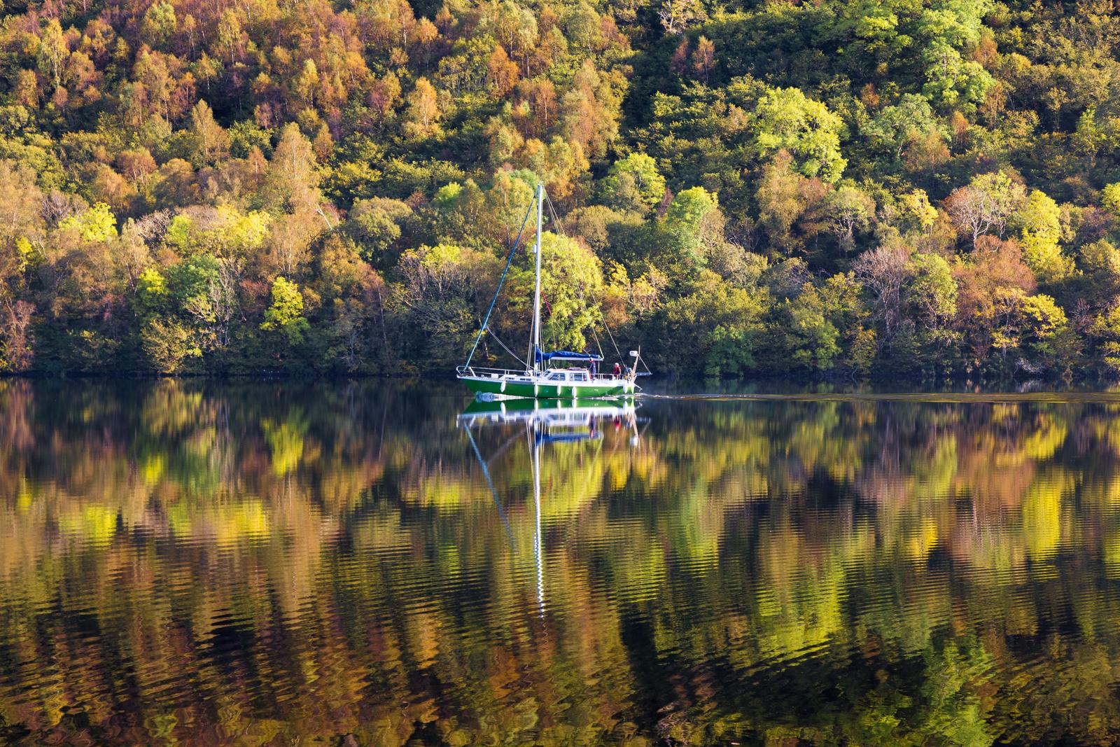 Sail Boat on Loch Oich