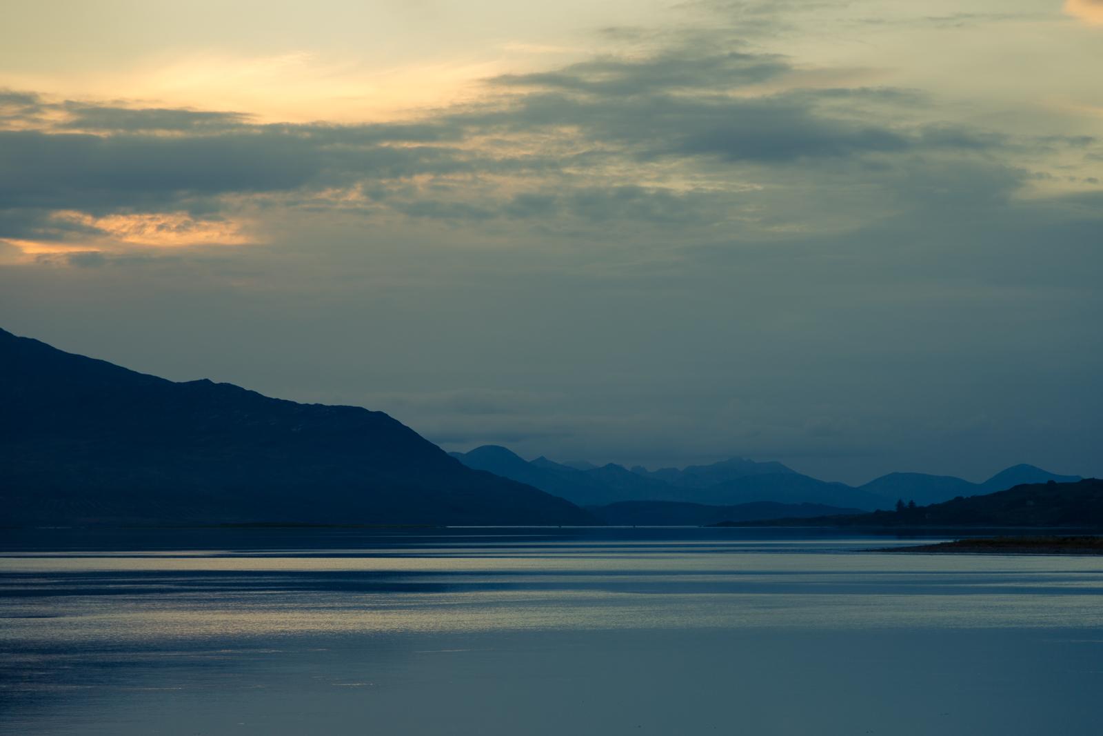 Sun Dipping on Loch Alsh