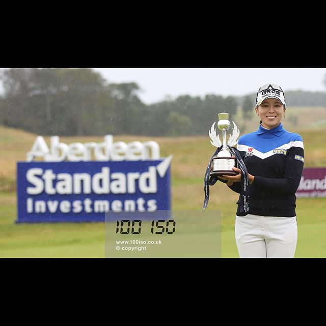 Congratulations to Mi Jung Hur on winning the Aberdeen Standard Investments Ladies Scottish Open! Played brilliantly in some terrible weather. . #MiJungHur #ownthelinks #eastlothian #ladiesgolf #therenaissanceclub #koreangolfnews #sportsphotography  #instagolf #golfgods #golfstyle #photographerslife #instagolfer #LETgolf #tournamentphotography