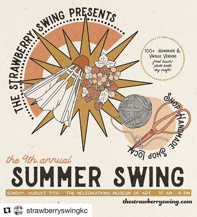 Come find me tomorrow at The 9th Annual @strawberryswingkc Summer Swing at @nelsonatkins! It's such a fun show and the maker list is incredible!