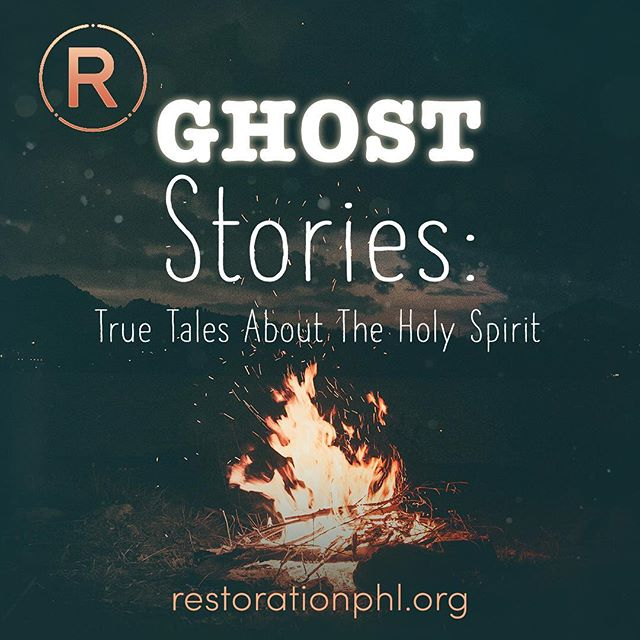 Tomorrow!! Join us for #GhostStories: True Tales About the Holy Spirit! Story 1: The Spirit Heals (1 Corinthians 12:4-11) 9 & 11 AM! Hope to be with you there!
