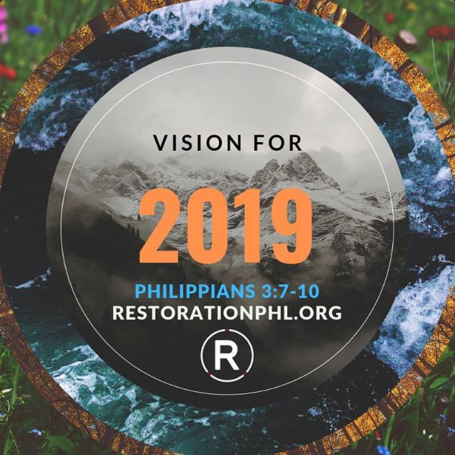 Maybe, you need Vision for 2019, too. Would you join us this morning @ our 9AM or 11AM gathering? (Link in bio.)