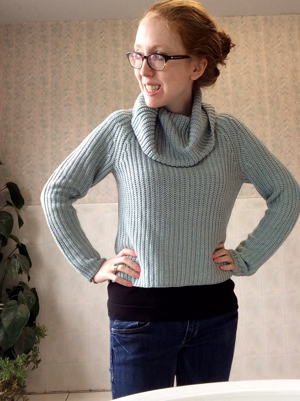 This sweater, from  last month's budget  is soooo comfy and soft. If it comes back in stock at Target, pounce!
