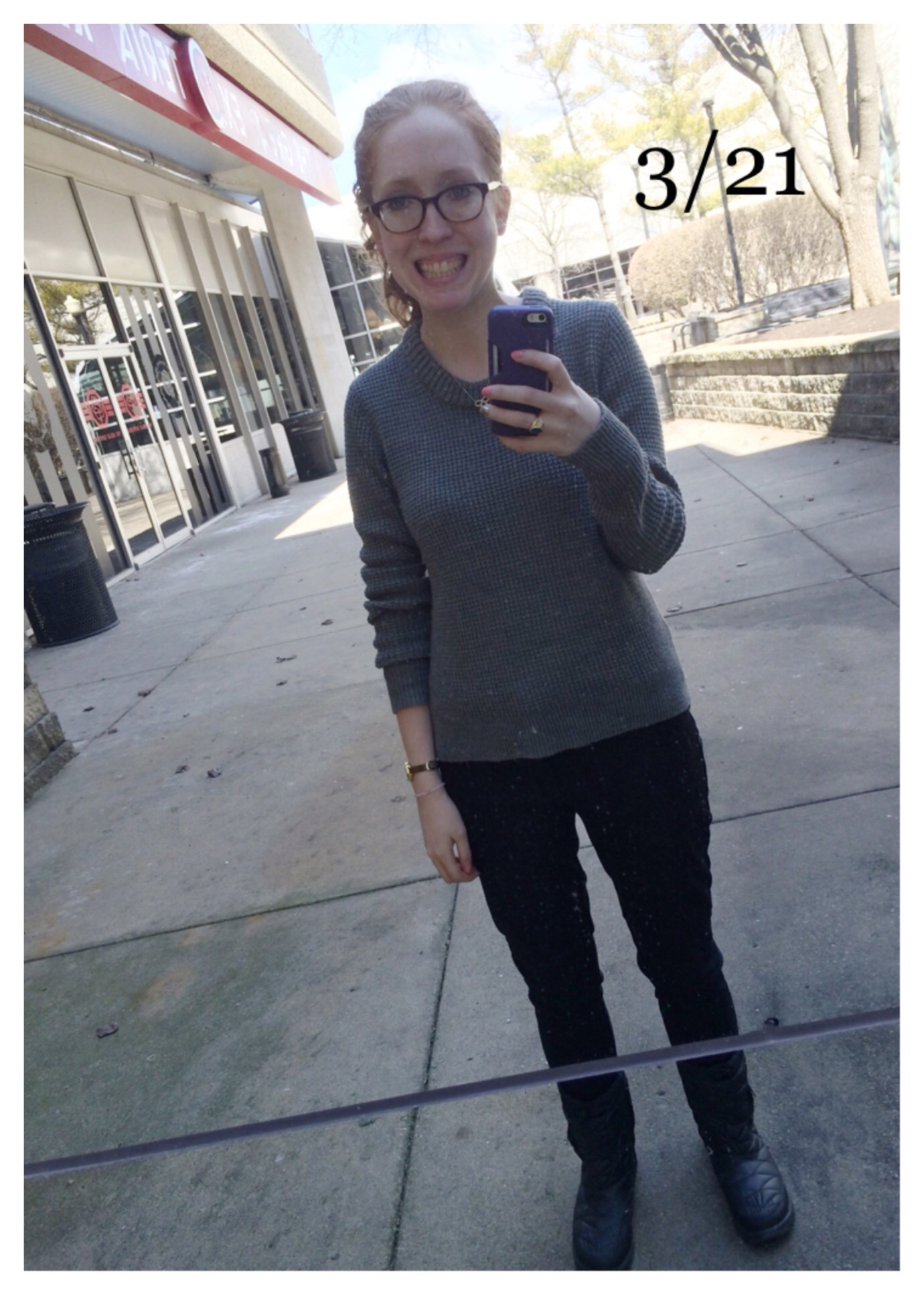 Random outdoor mirror in Chicago! | North Face thermoball booties ( exact ) | Nails: Orly Cotton Candy and Zoya Severine