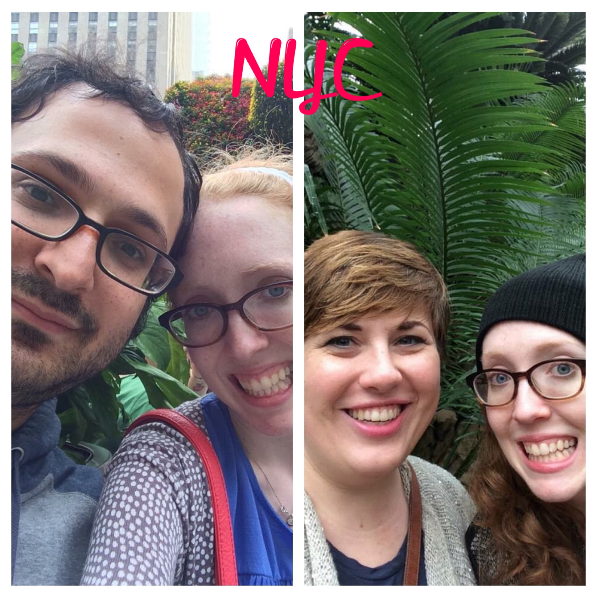 August 2014 anniversary trip with the bf | January 2015 at the Brooklyn Botanic Garden with my galpal Timmi