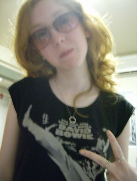 Junior year of college. I found this shirt at the Gap and wore it all the time! This was also my first Blogger profile picture HAHA!