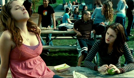 I love Anna Kendrick in  Twilight . Her stereotypical teenagerness just cracks me up.
