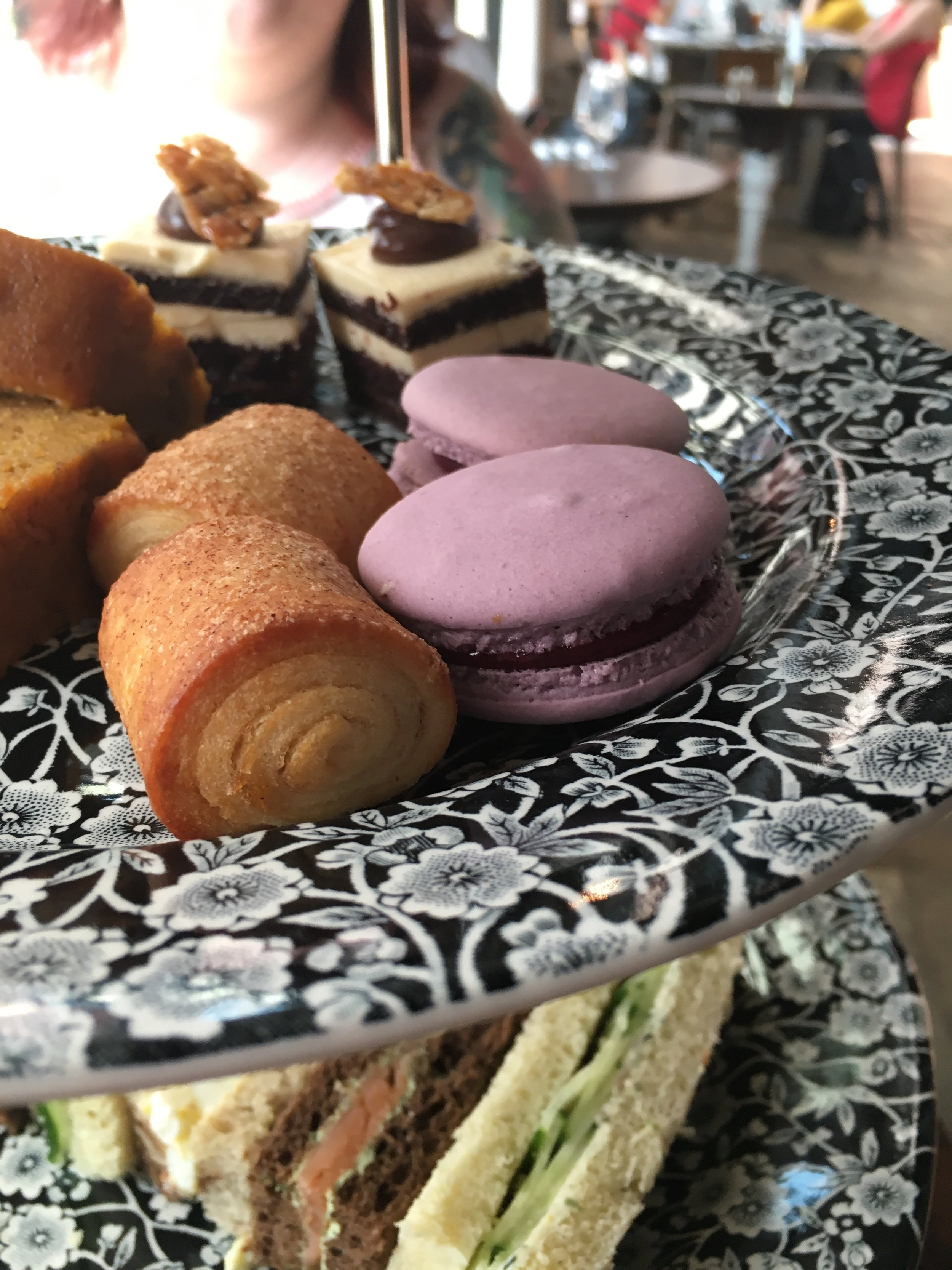 Aforementioned pretty desserts. (That macaron had some sort of berry jam filling that was off the chain!)