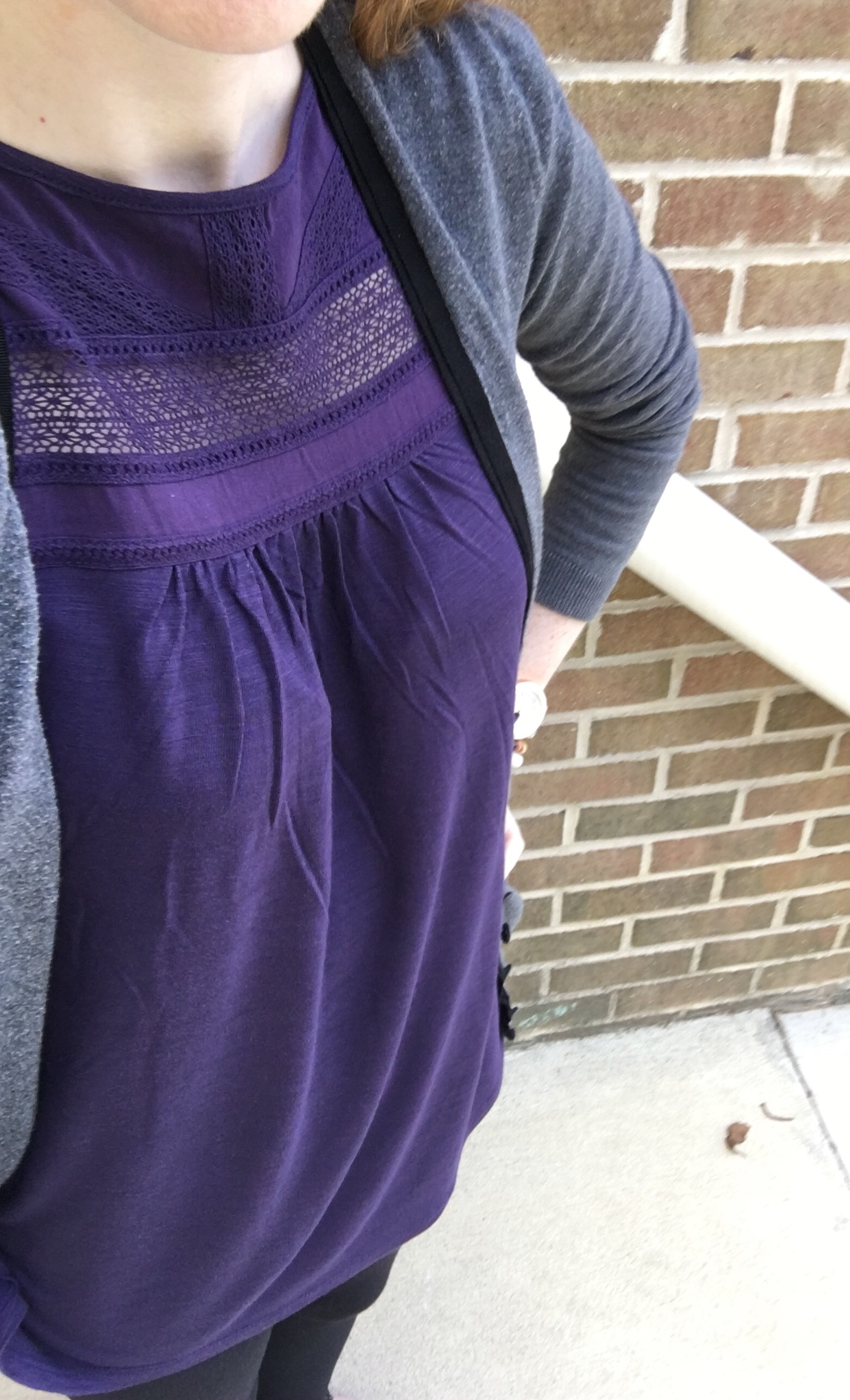 I've already worn the tank, and I'm kind of obsessed. It's super comfy but looks fancy, it's long enough to wear with leggings, and it's PURPLE! The trifecta of perfection.