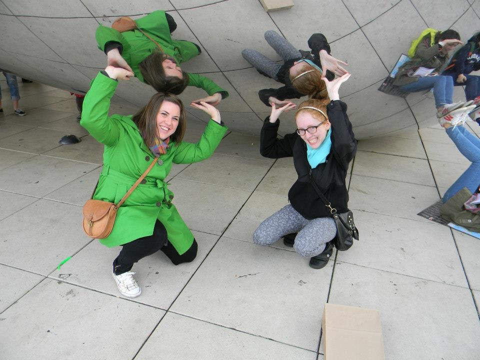 Casually holding up the Bean with Timmi, as one does.