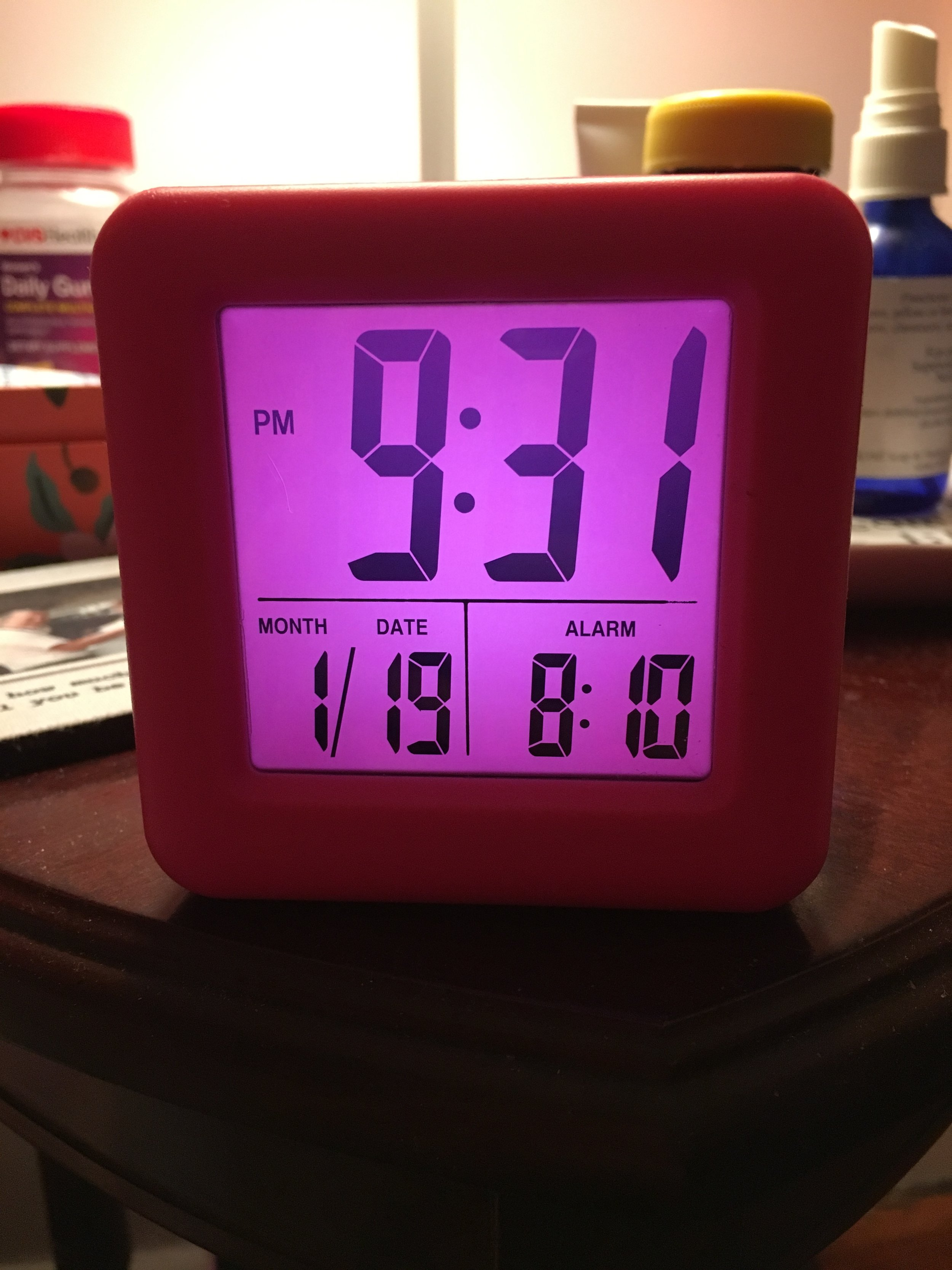 Bonus if your clock is as awesome as this $10 one from  Amazon !