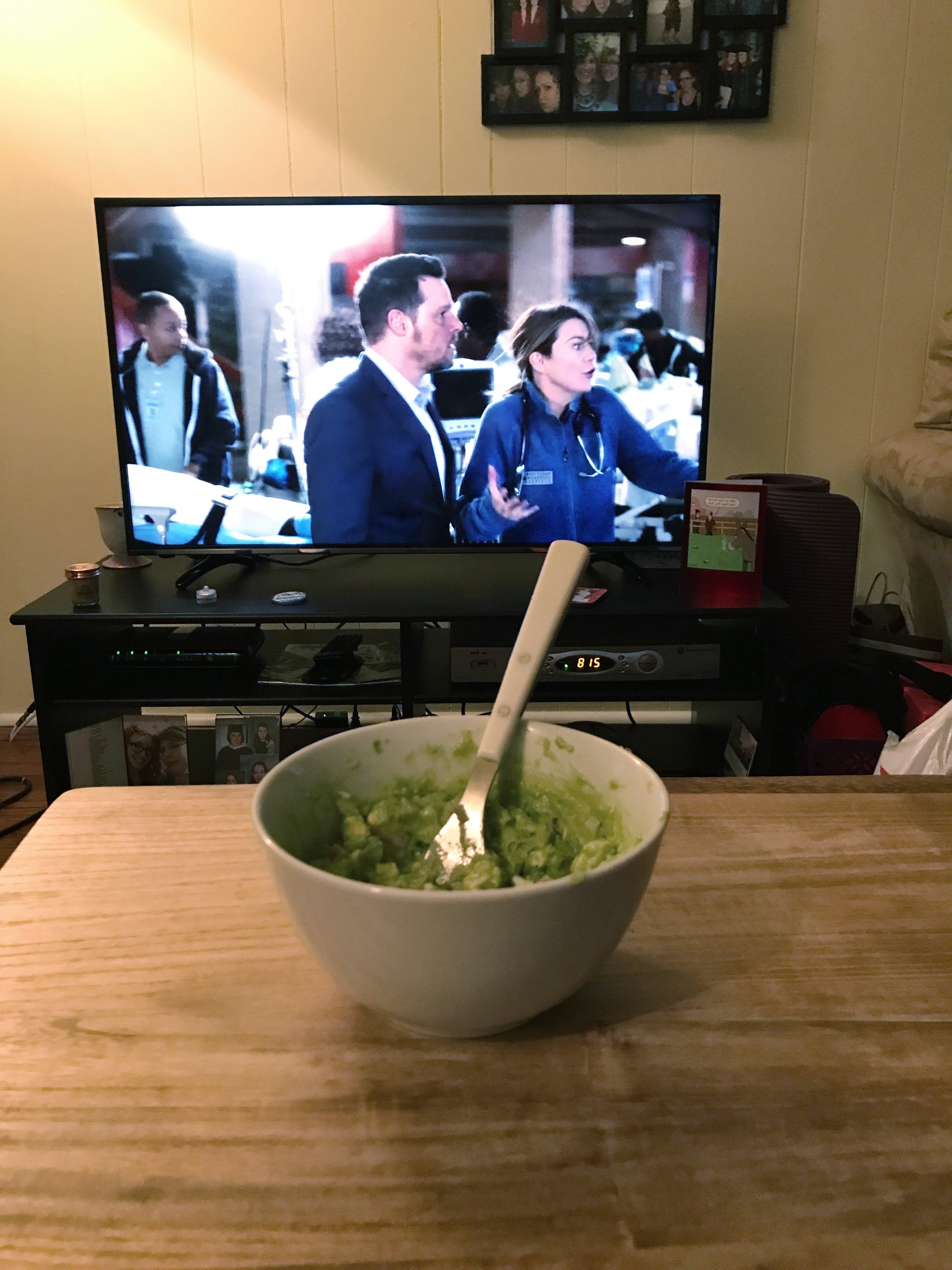 Guac, frenzied Mer, and Alex's 15 second cameo--what's not to love?