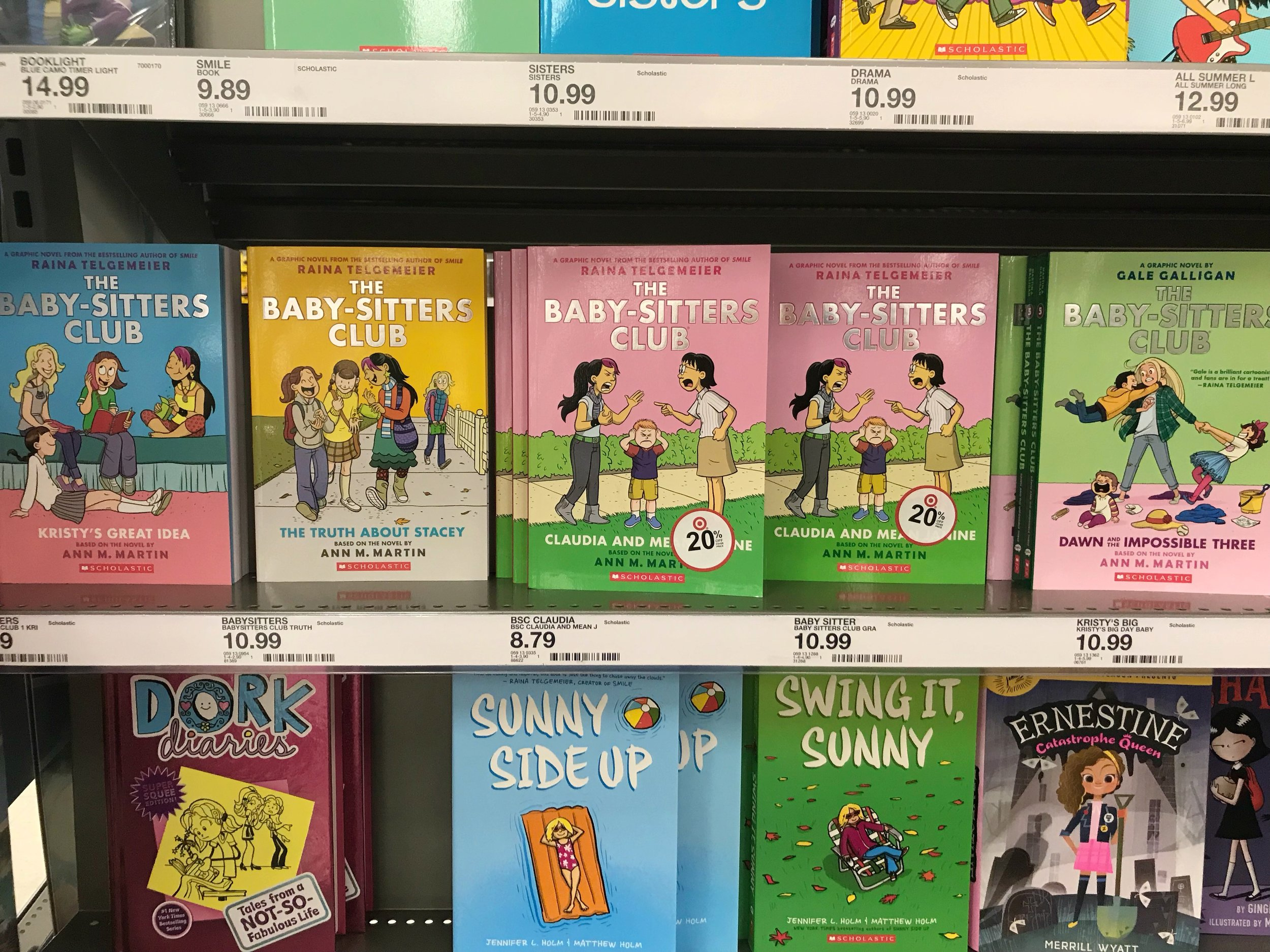 Seeing  The Baby-sitters Club  books at Target made me so happy! Yay that another generation will get to befriend these girls like I did!