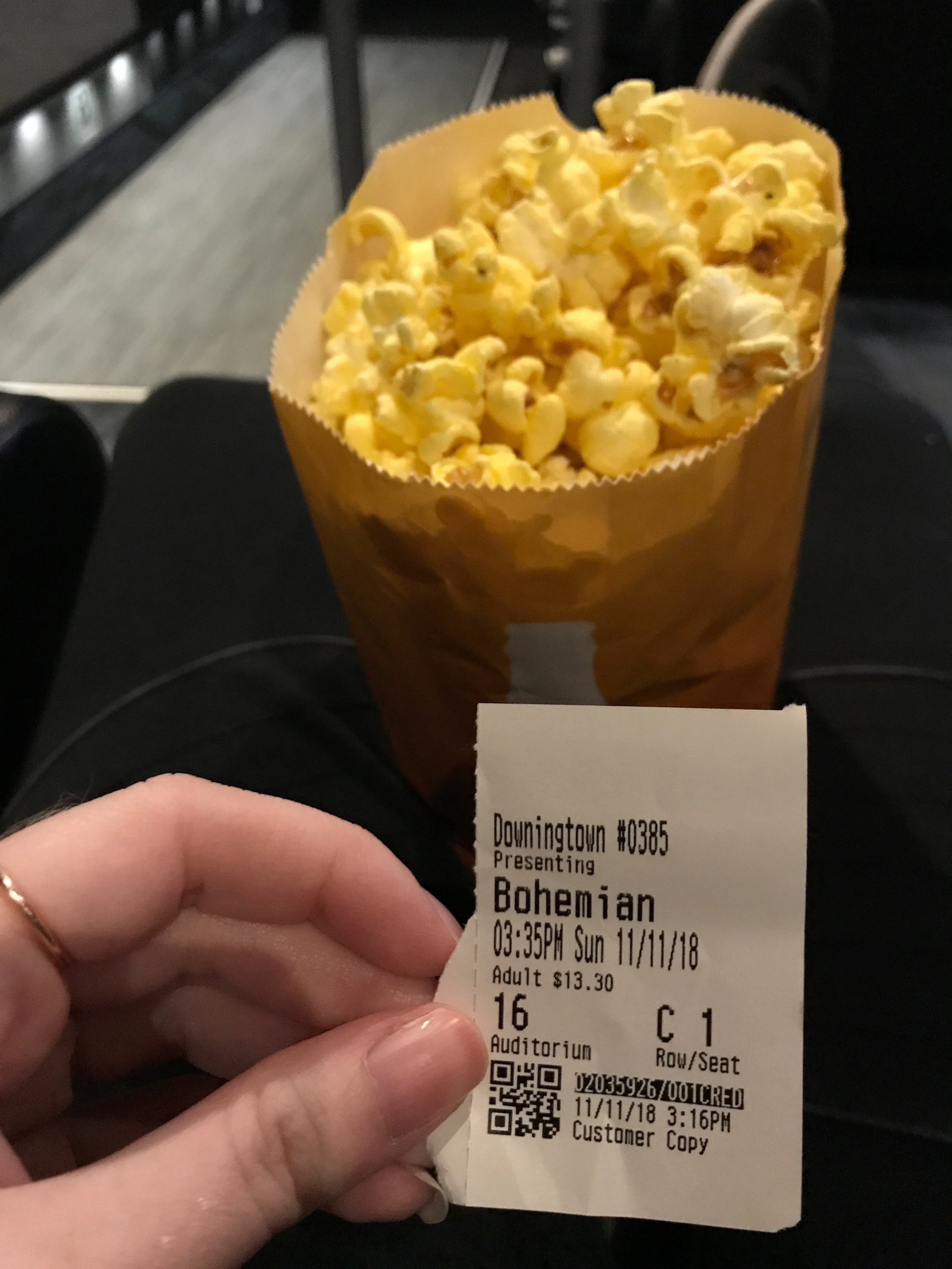 I went to the movies by myself, which I think means I crossed a goal off of  Bri's  list, haha!