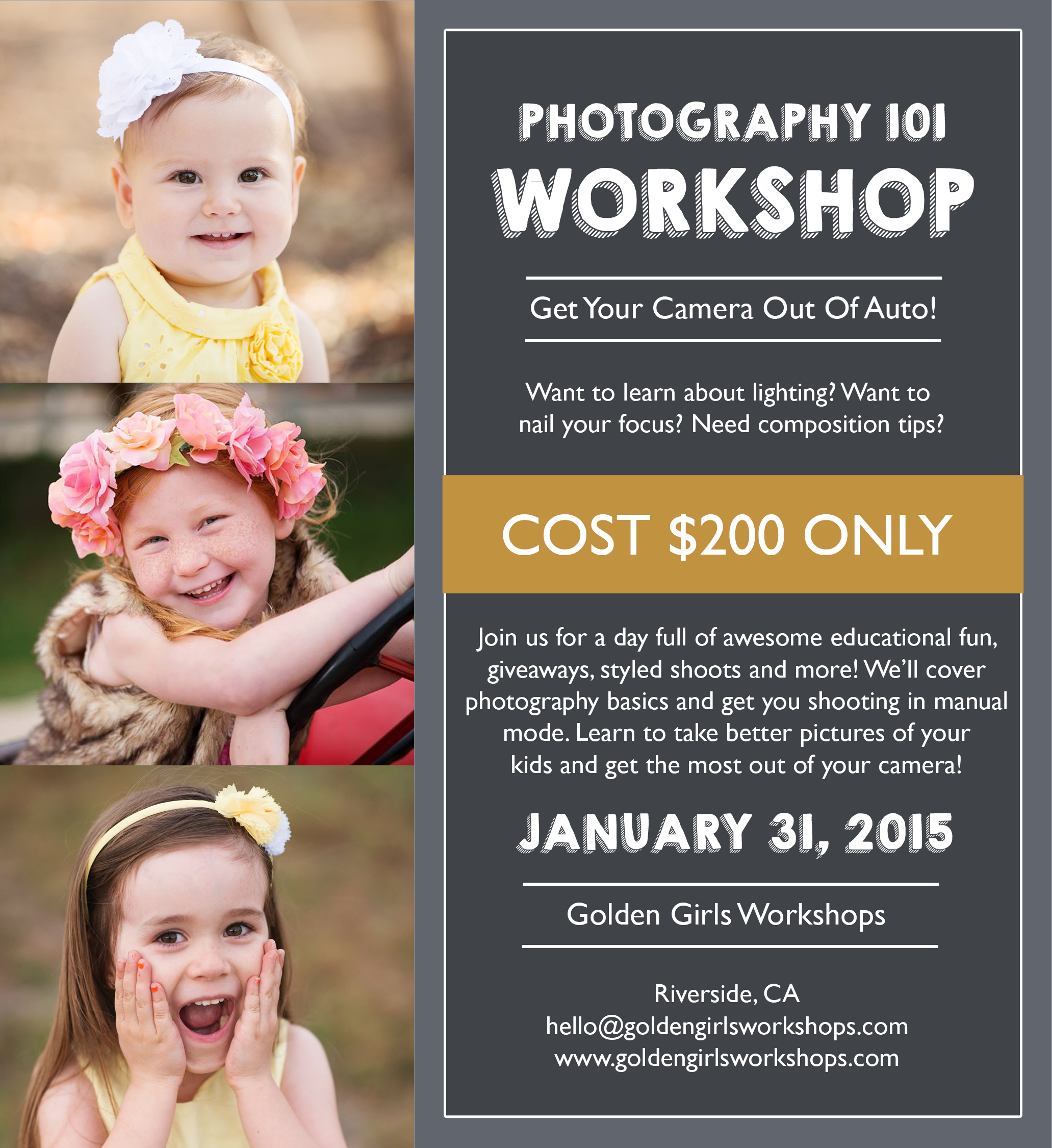 Photography Workshop Giveaway
