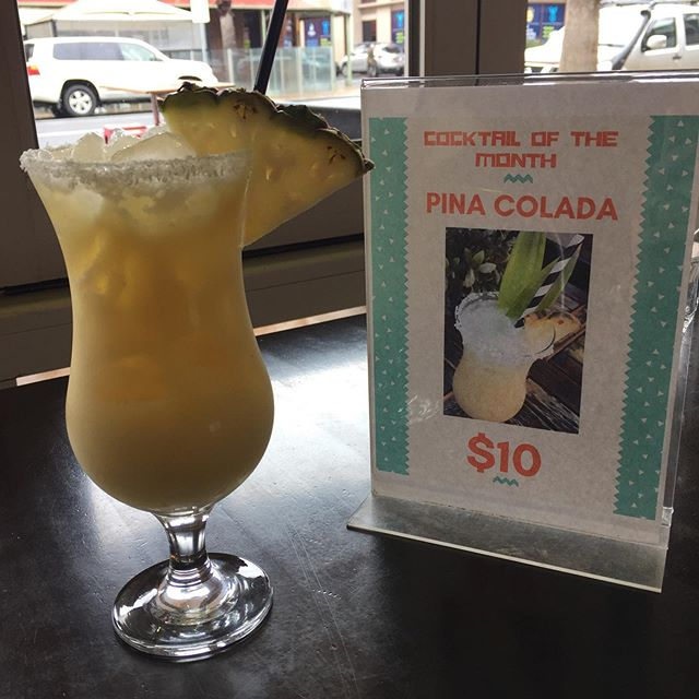 Thank god it's Friday! Our Pina Colada is only $10 all day today! Available during lunch between 12-2pm and all dinner, open from 5:30pm till late tonight! . . . . #mojo #mojomama #mexican #mexicanfood #newmenu #foodporn #cocktails #geelong #centralgeelong