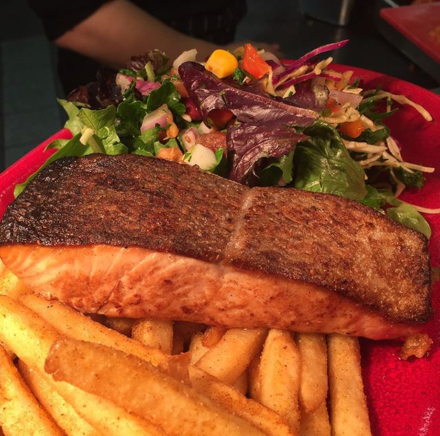 Showcasing our new salmon on the menu! Comes with a side of fries and salad and garlic aioli! . . . #mexican #mexicanfood #newmenu #geelong #centralgeelong #food #foodporn #salmon #yummy #nofilterneeded