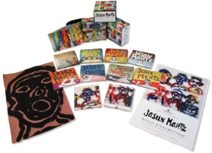 Solo Exhibition 8 CD Box-set retrospective was nominated for Best Album Packaging of the Year at the Independent Music Awards. Each box contains an original one-of-a-kind signed Jasun Martz painting.