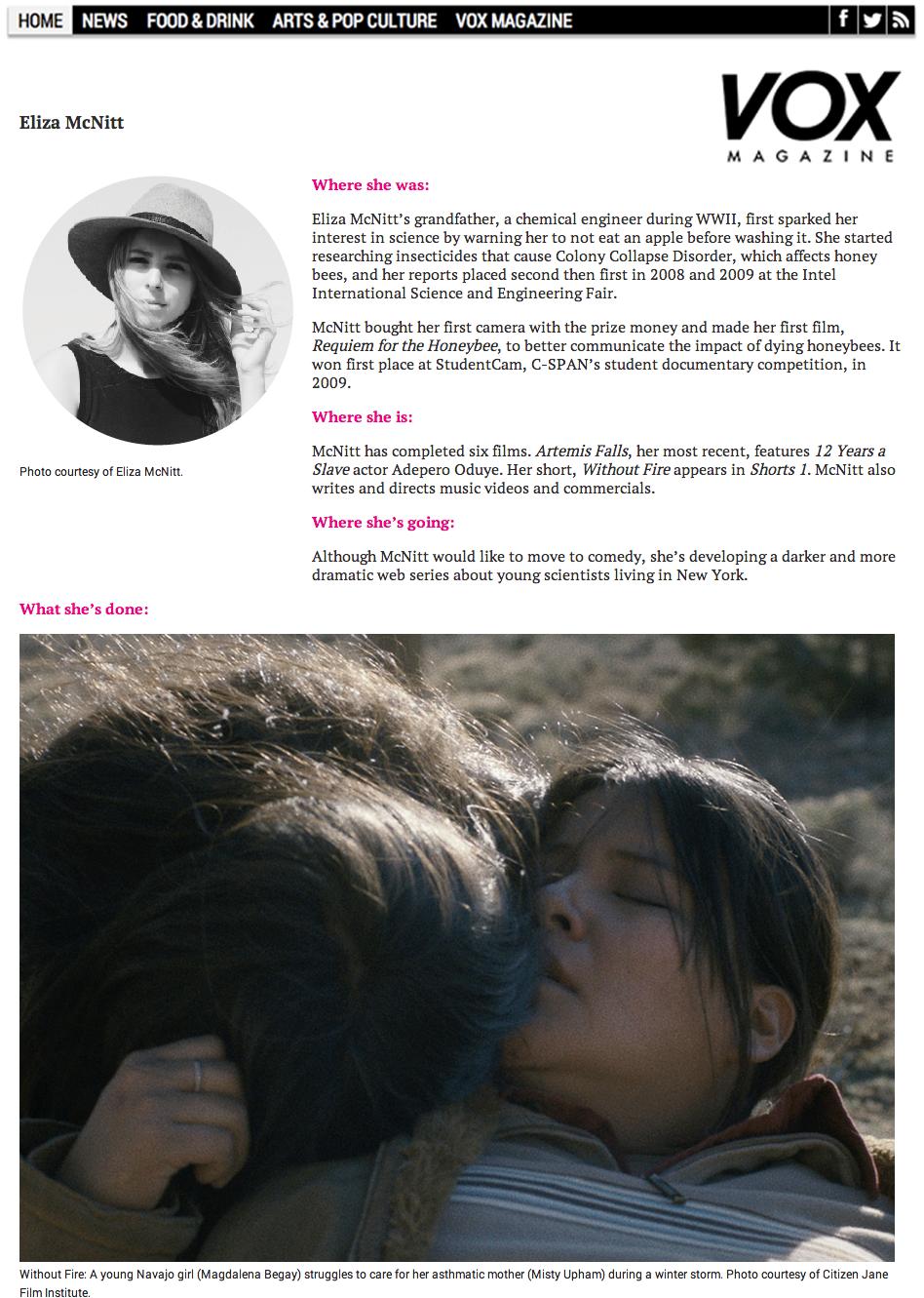 VOX Magazine Artist Profile