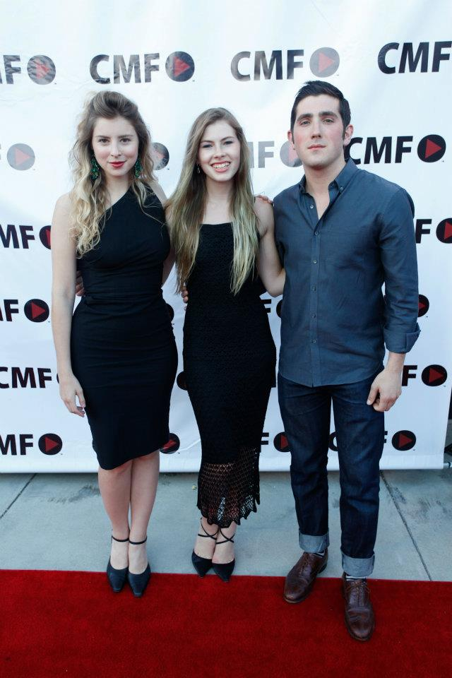 JUNE 2012. LOS ANGELES, CALIFORNIA. Eliza, Amanda Yarosh, and Hunter Baker at the awards ceremony for  Violet  at AT&T's Campus Movie Festival.