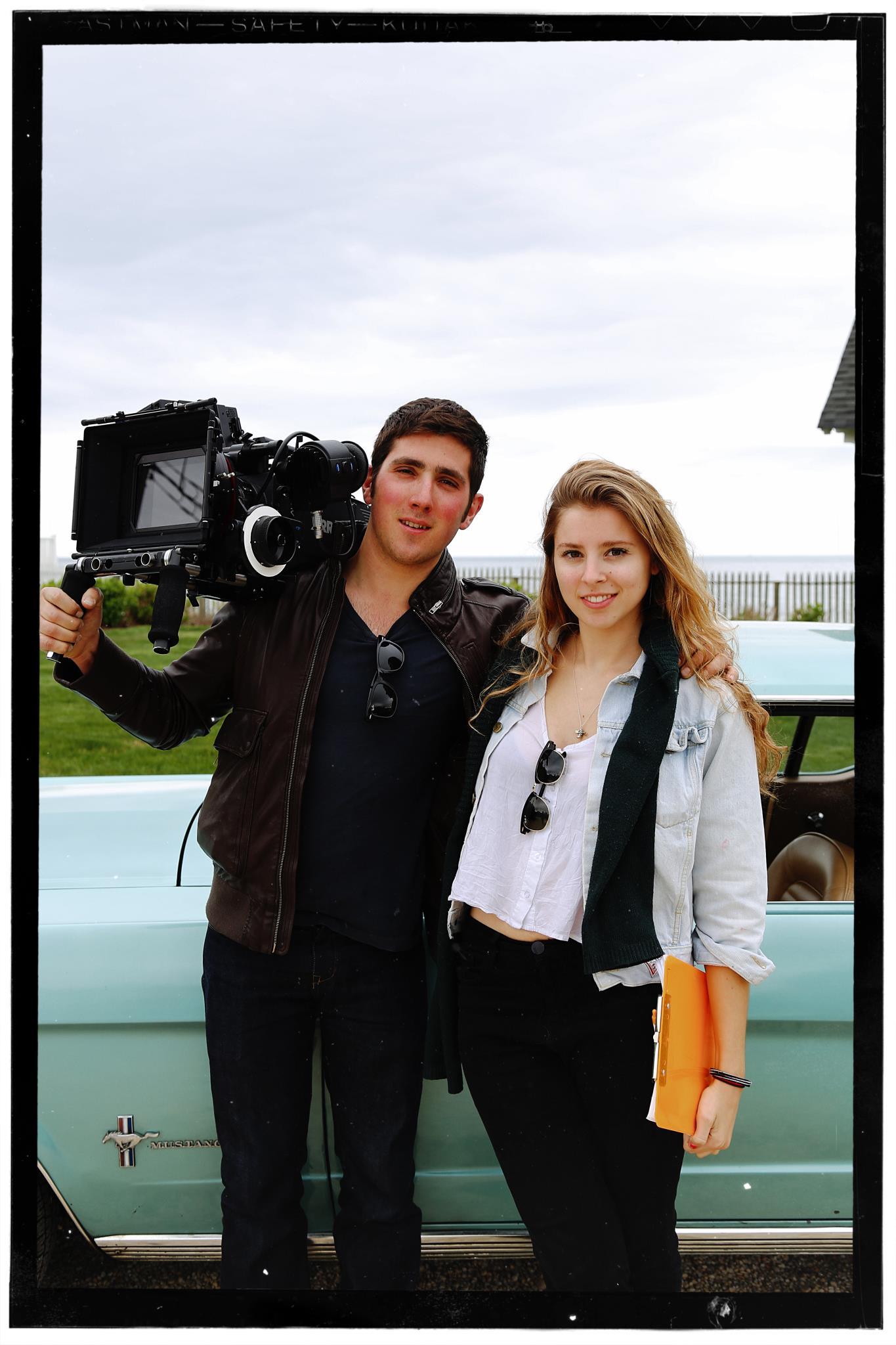 APRIL 2012. ASBURY PARK, NEW JERSEY. Hunter Baker and Eliza on set of  VIOLET.