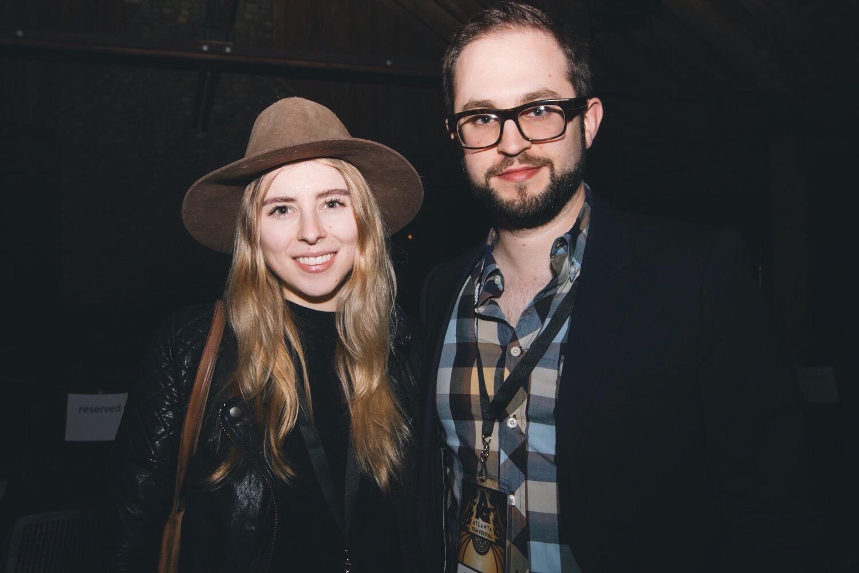 Eliza McNitt and Julian Higgins.