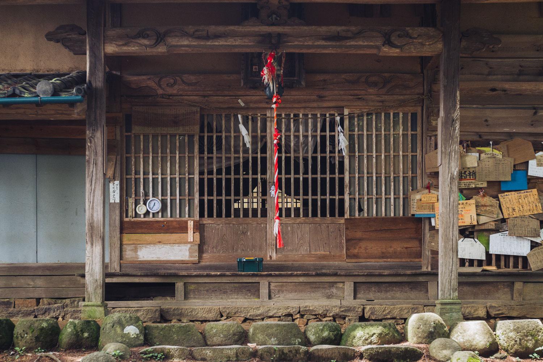 Taroyama Shrine near the summit of Mount Taro, Ueda, Nagano, Japan