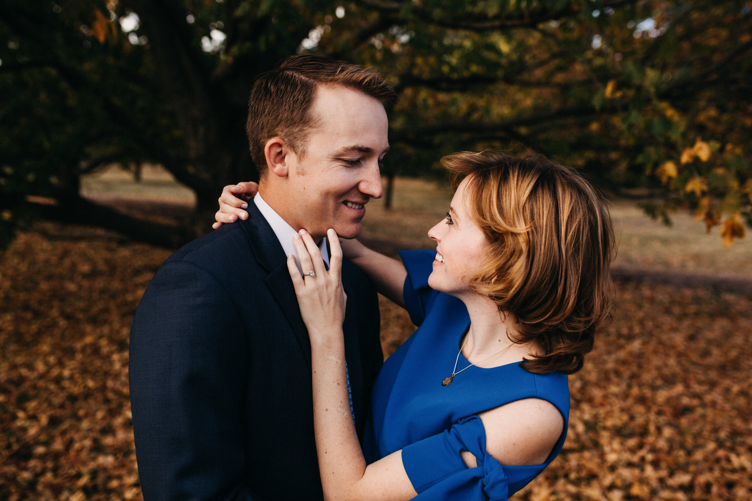 Bridget and Brian - Fall Engagement | The Morton Arboretum | Lisle, IL