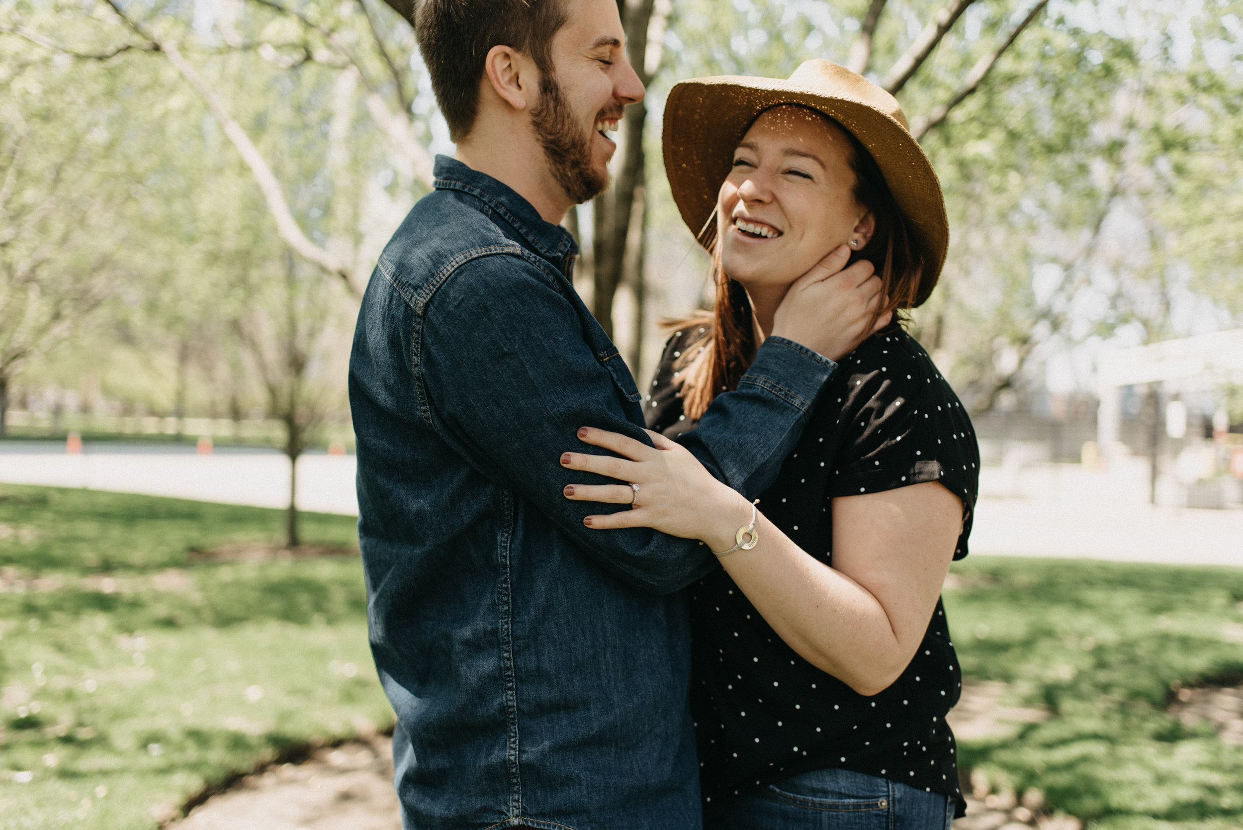 Caitlin and Matt - Spring Engagement | Milton Lee Olive Park and Navy Pier | Chicago, IL
