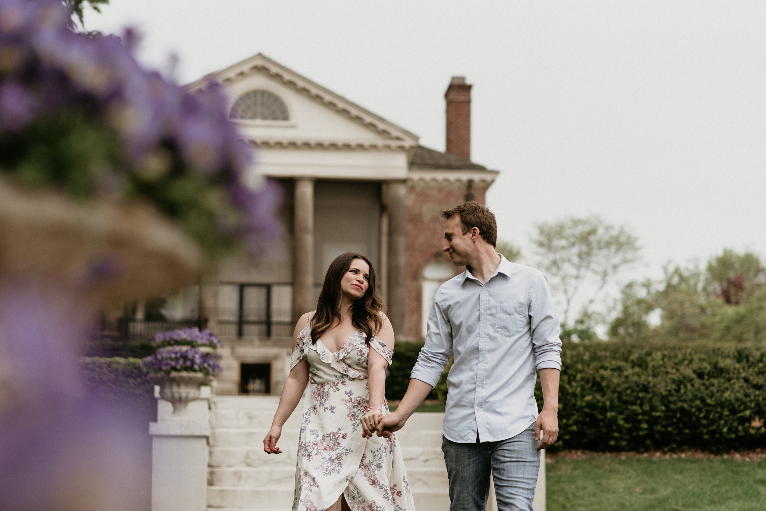Meagan and Justin - Cantigny Park Engagement | Wheaton, IL