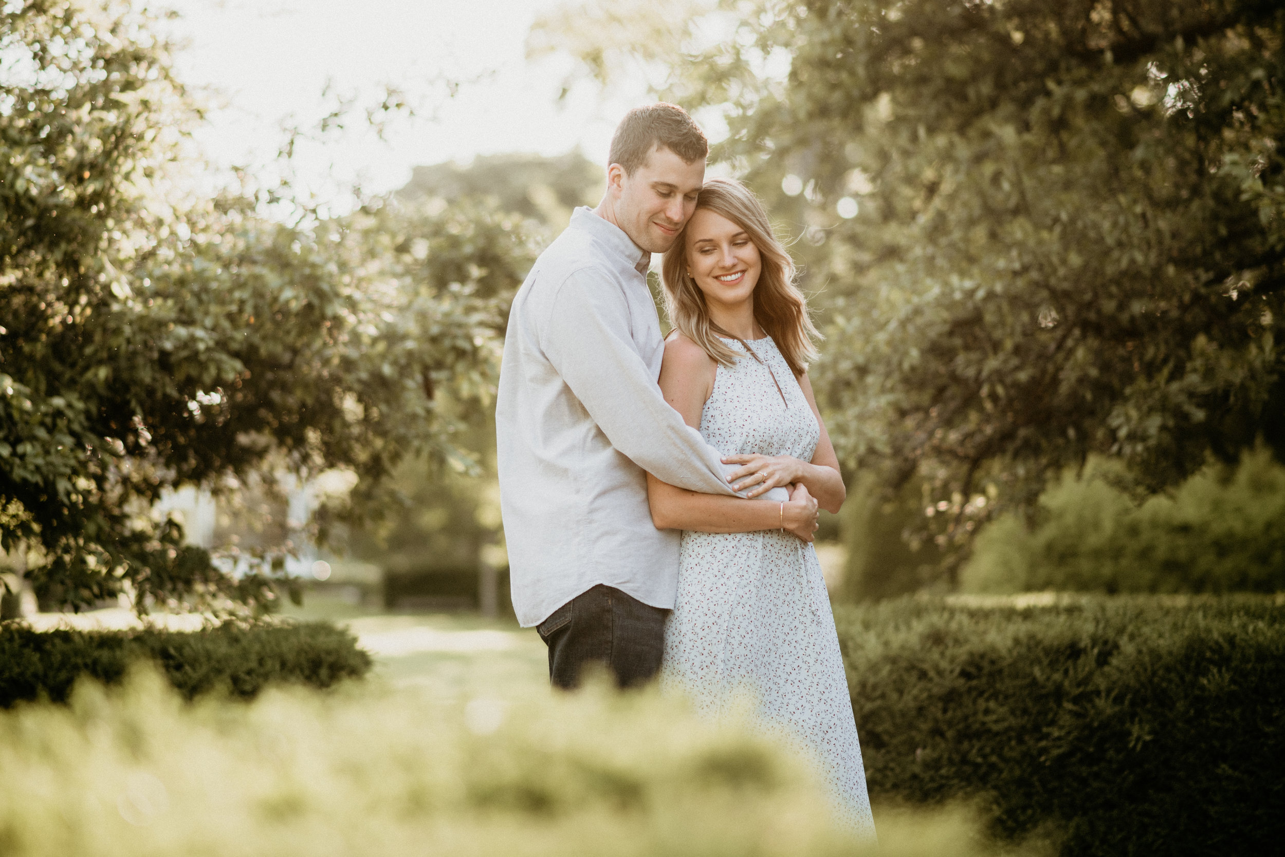Natalie and Jay - Summer Engagement | The Morton Arboretum | Lisle, IL