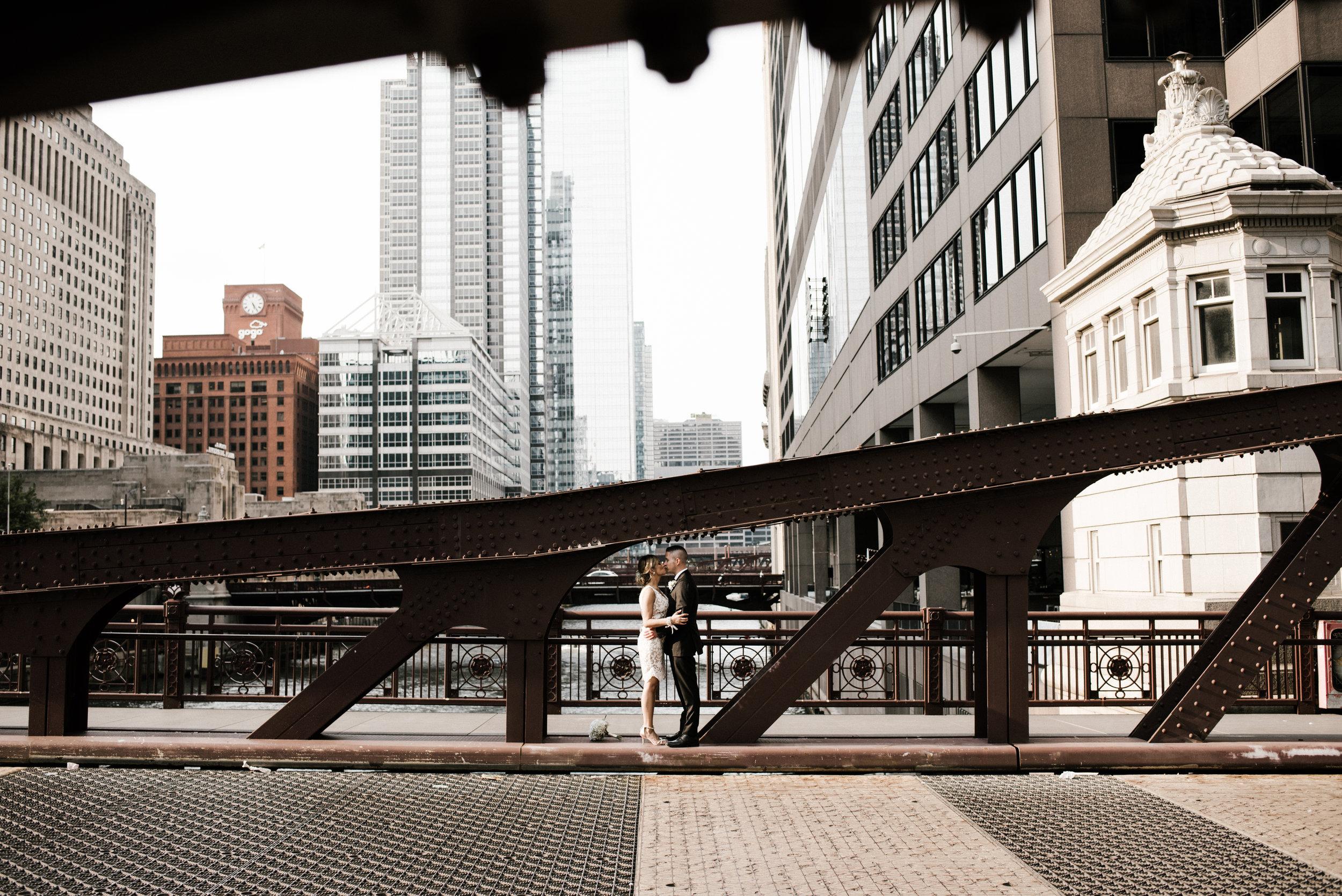 Melinda and Dan - City Wedding | South Branch Chicago